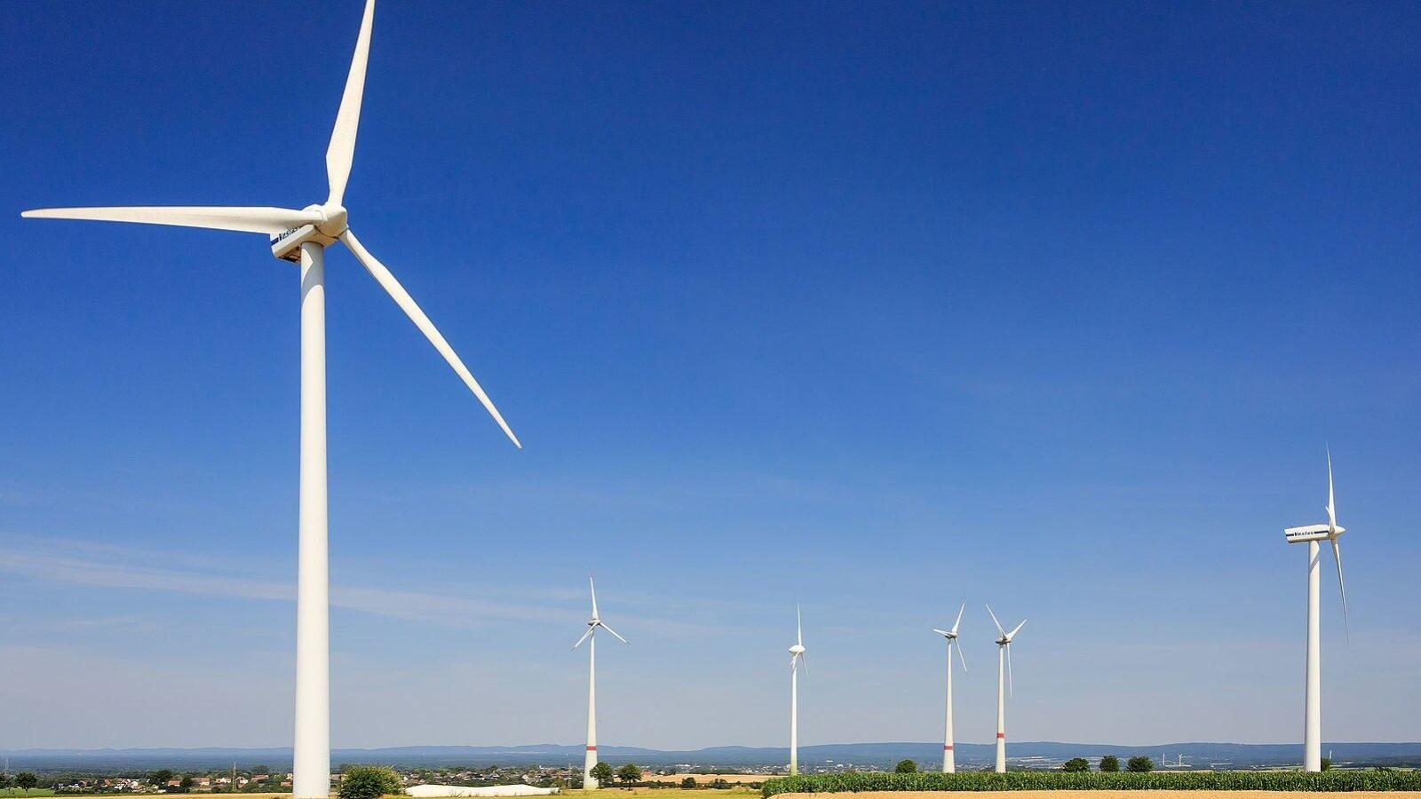 Wind turbines in a remote area