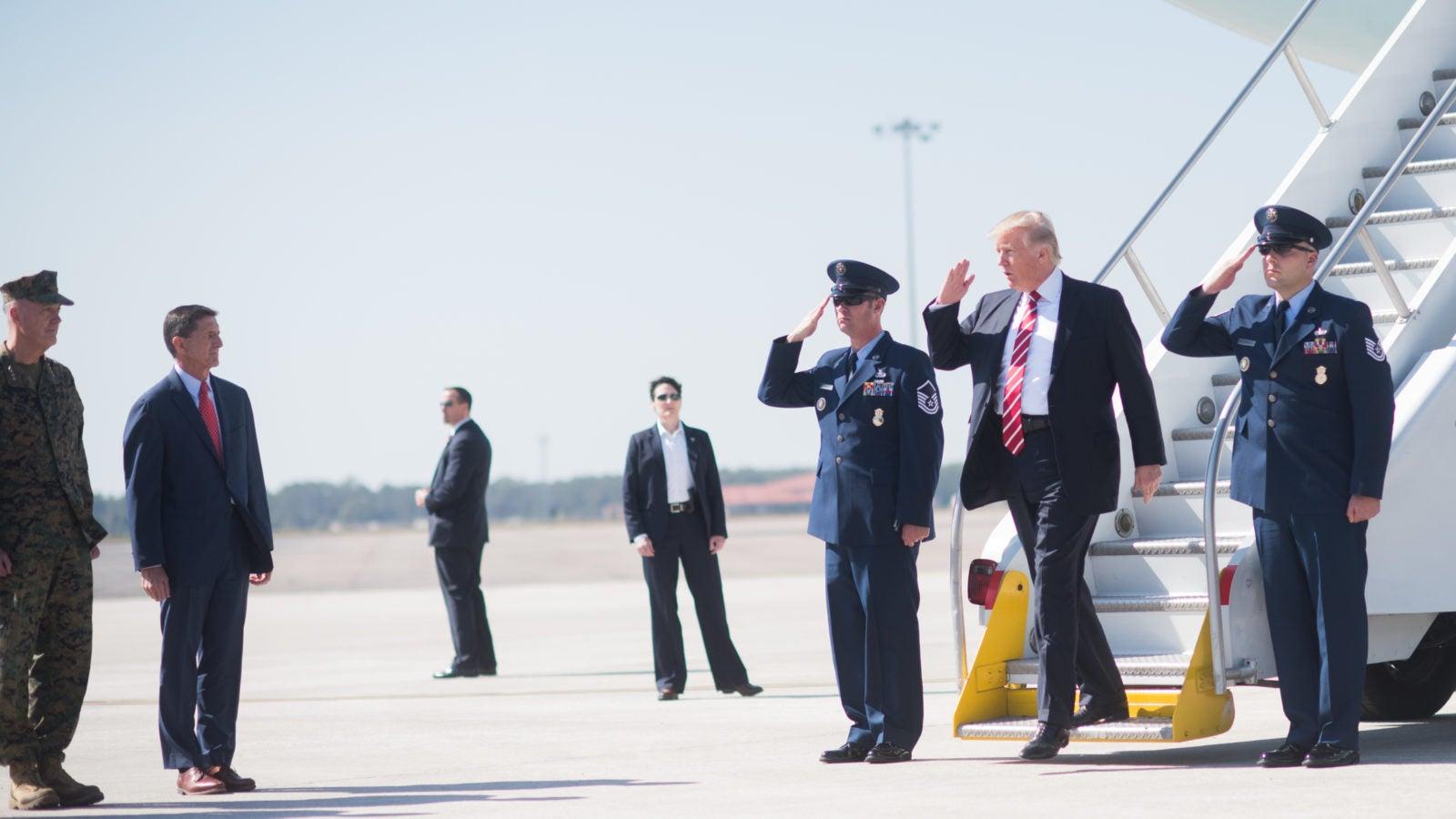 US President visiting MacDill Air Force Base