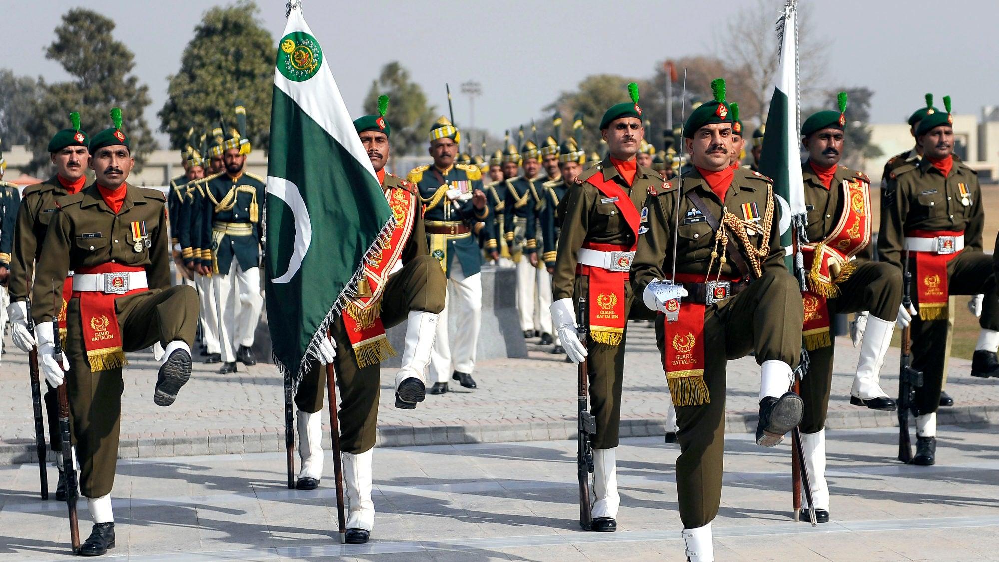 Pakistani military parade