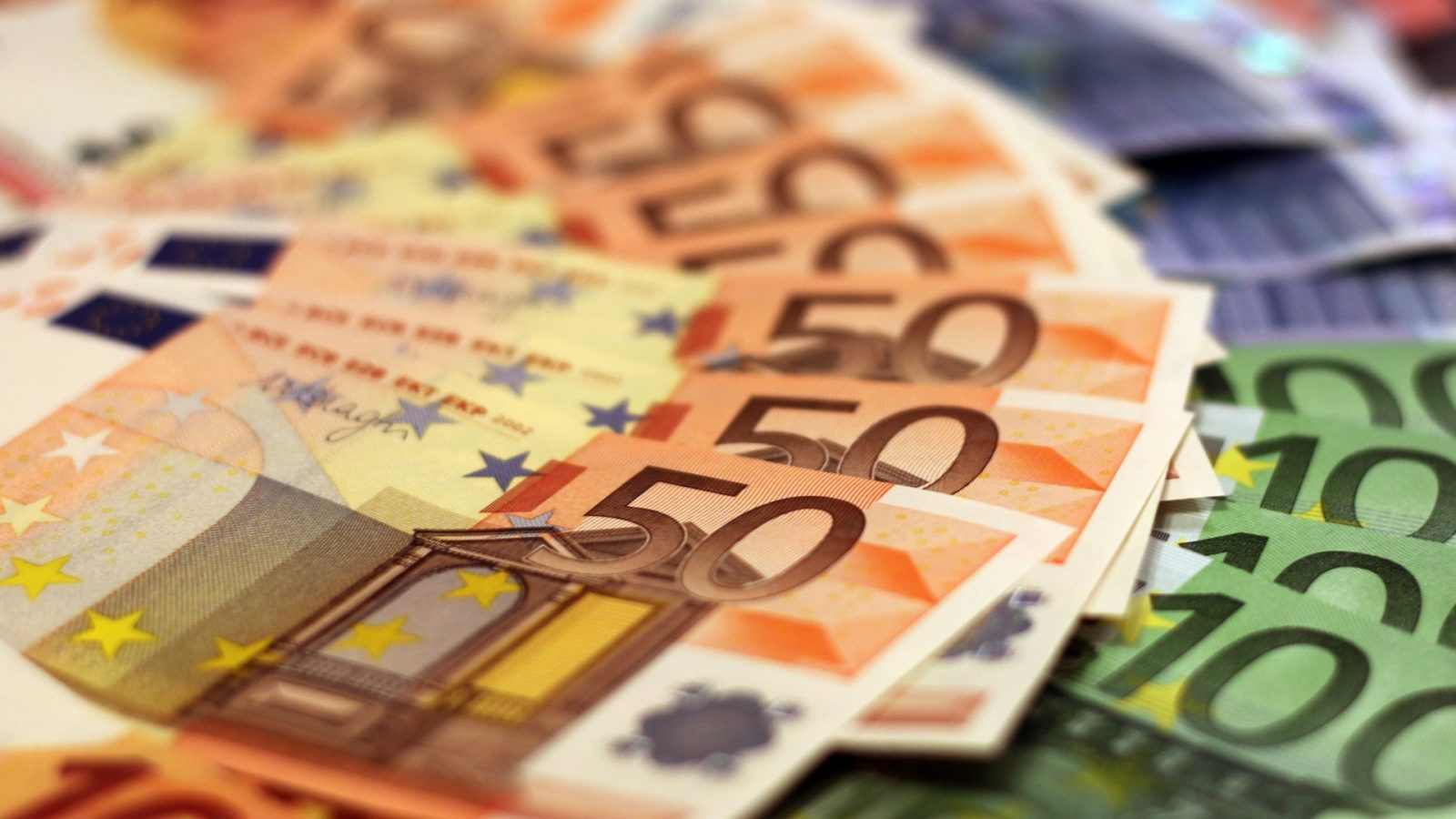 A stack of euros.