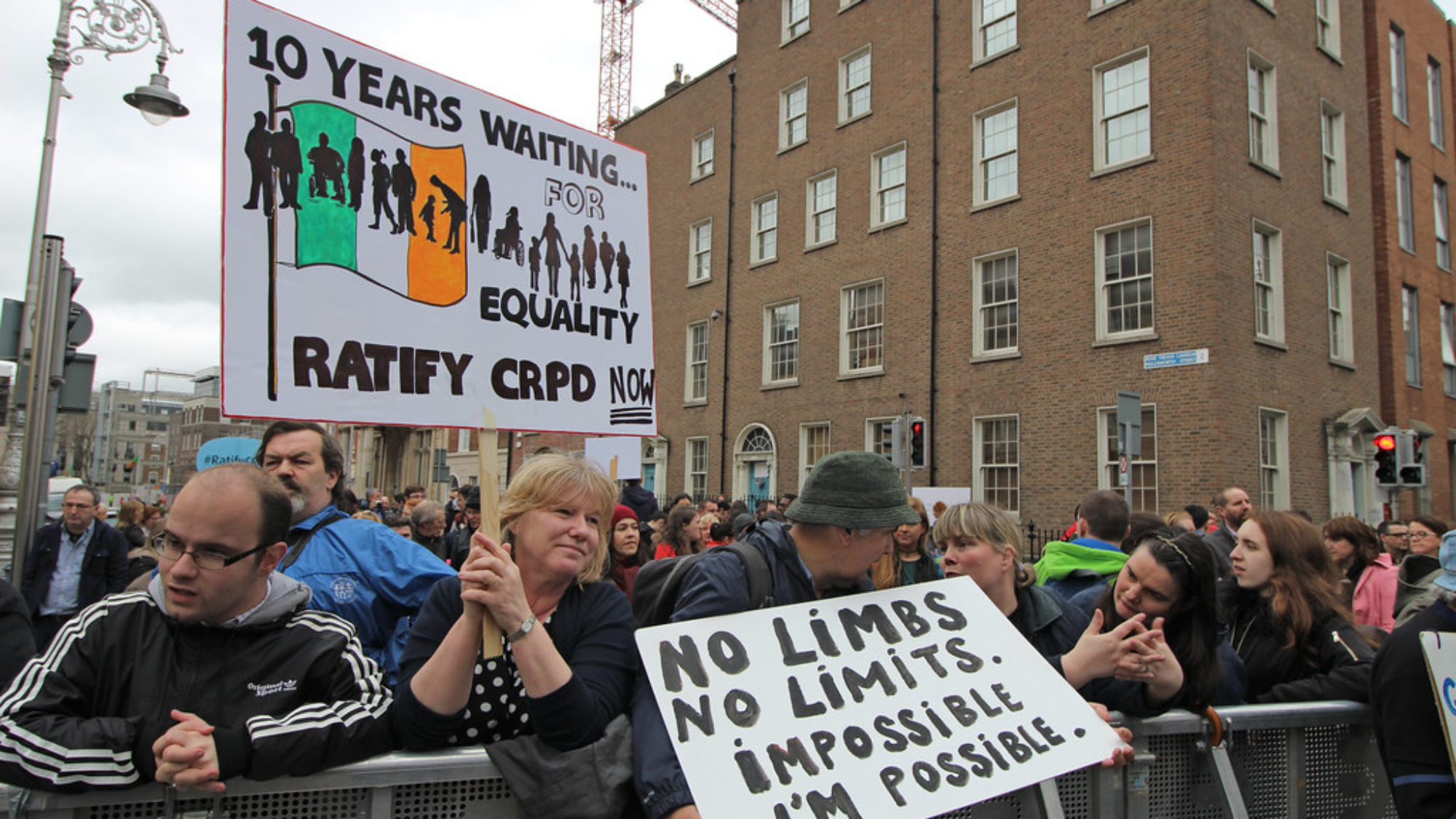 A disability rights rally