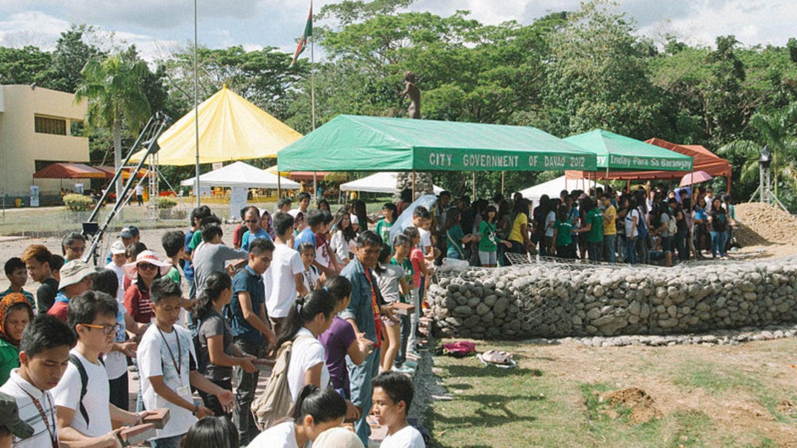 Students at a Filipino university