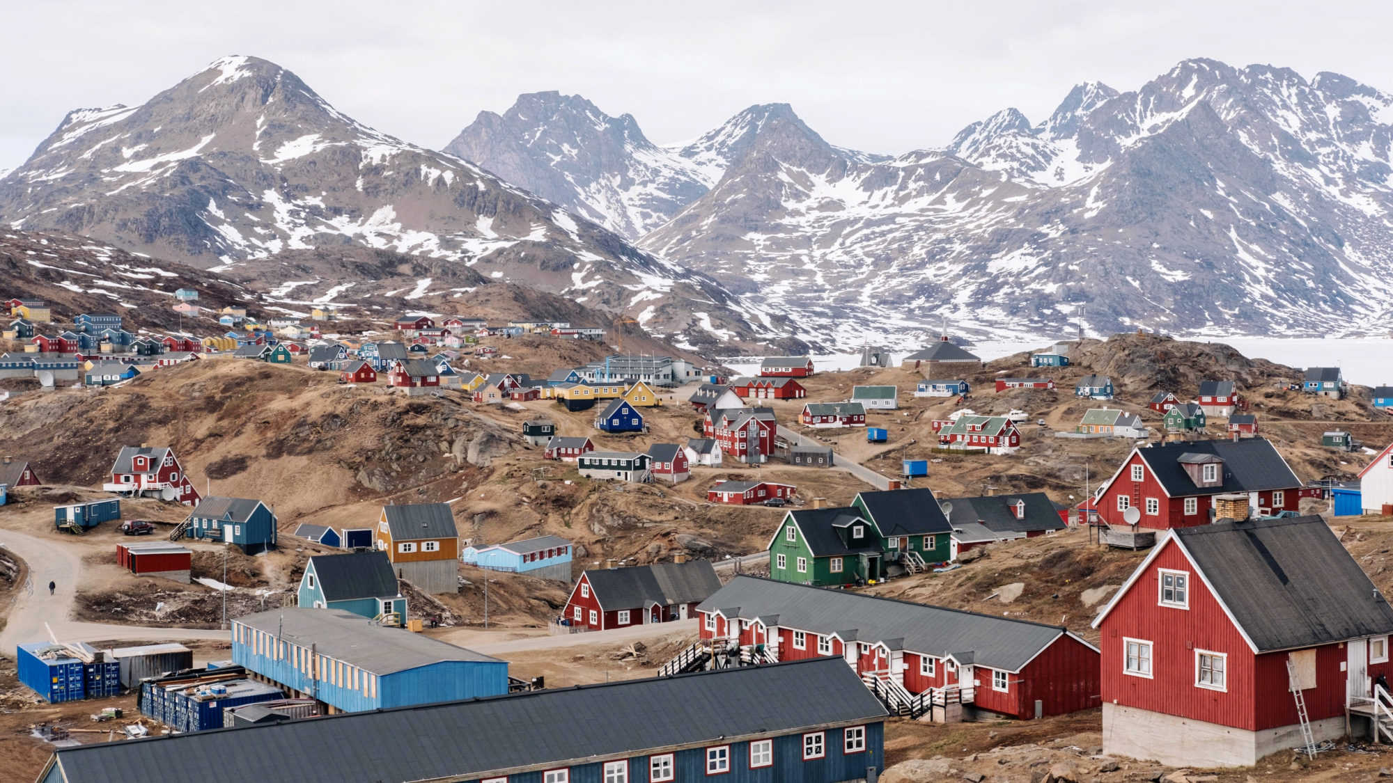 View of a town in Greenland.