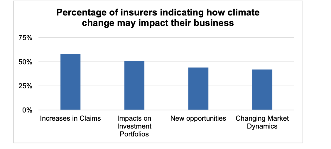 Expected impacts of climate change on insurers