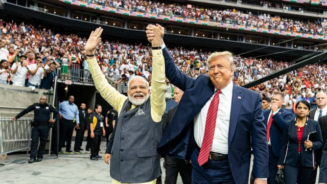 Donald Trump and Narendra Modi at Rally in India