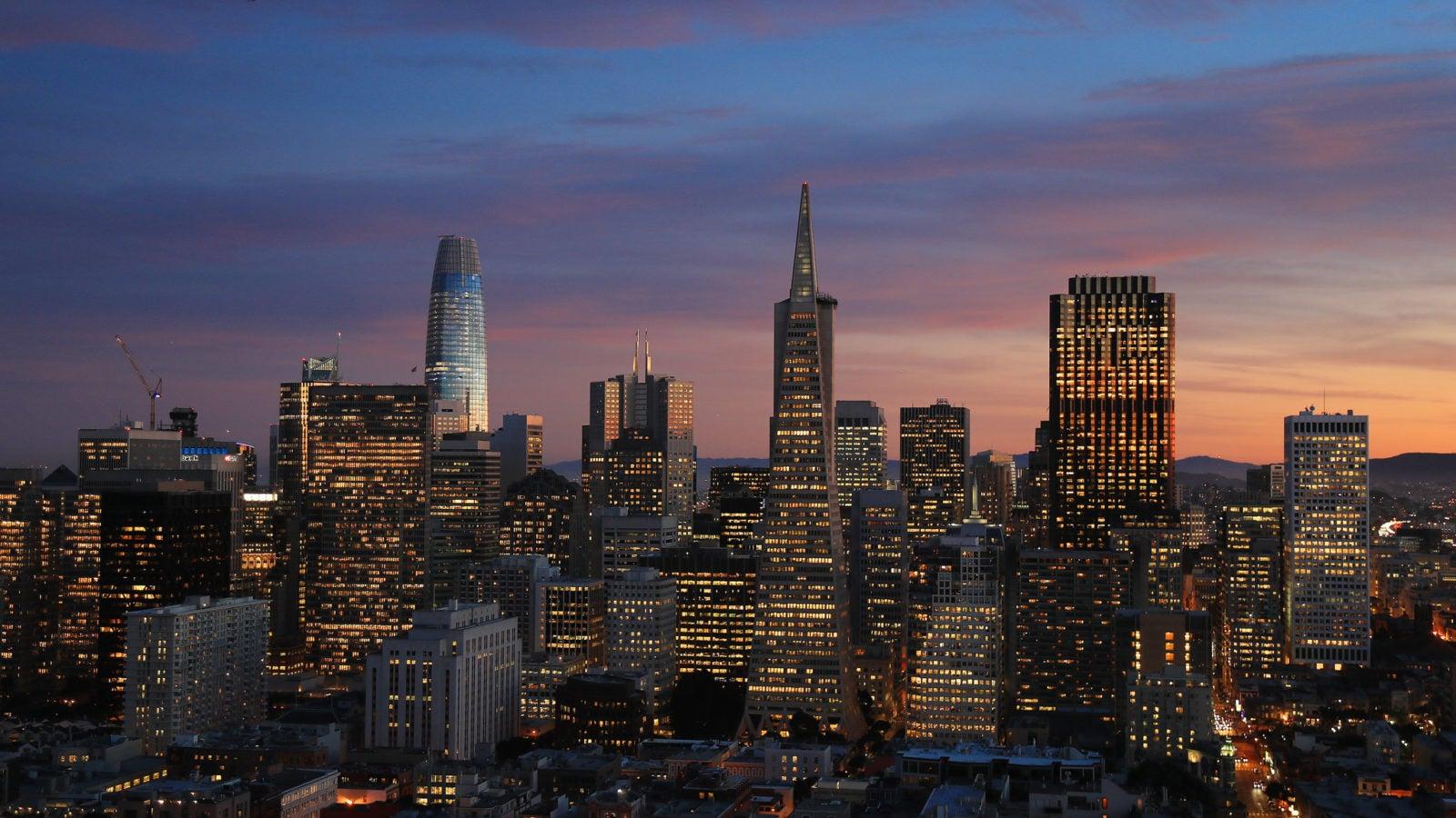 Skyline of San Francisco.