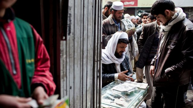 Currency exchangers in Afghanistan