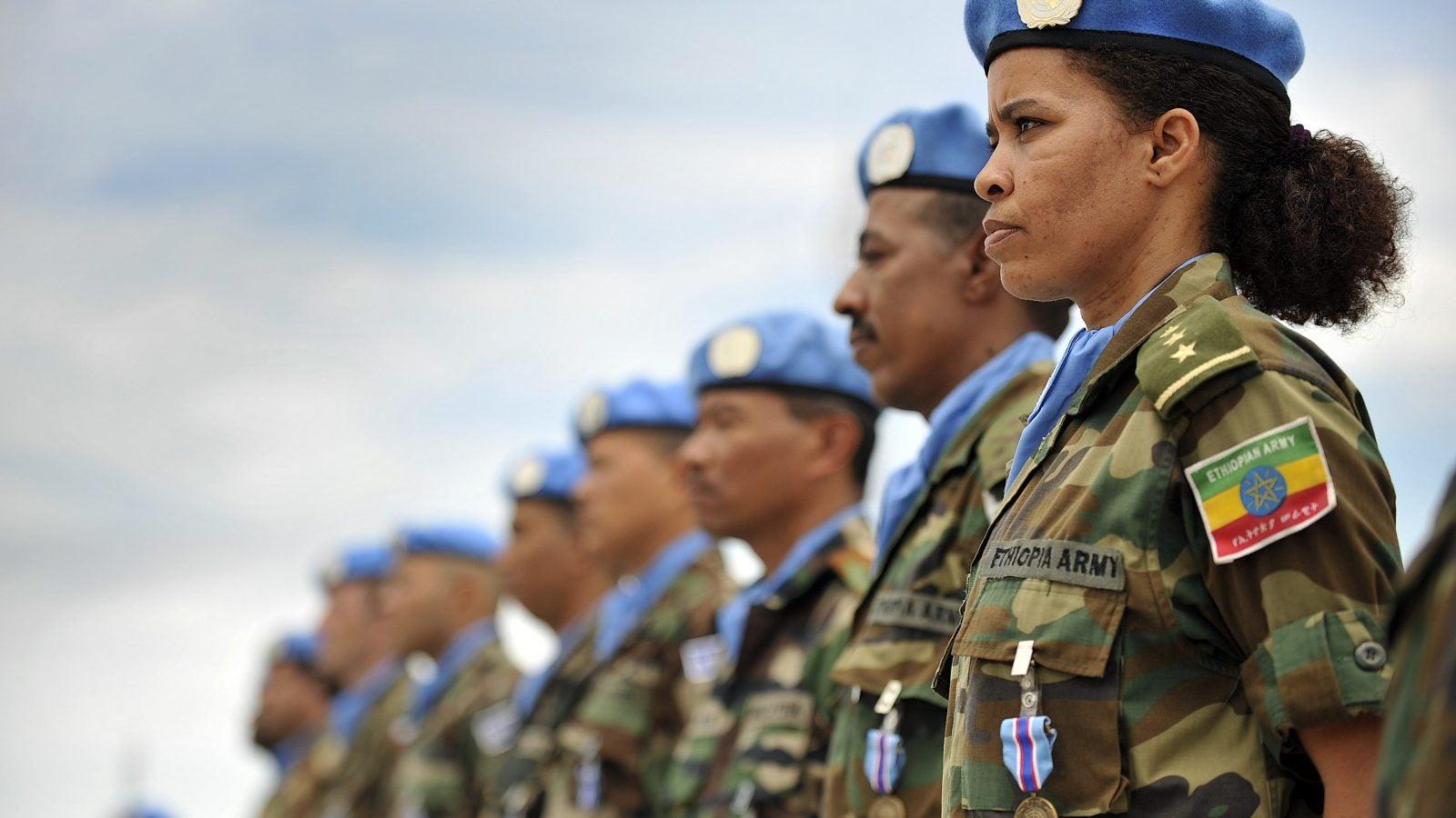 UN peacekeeping women.