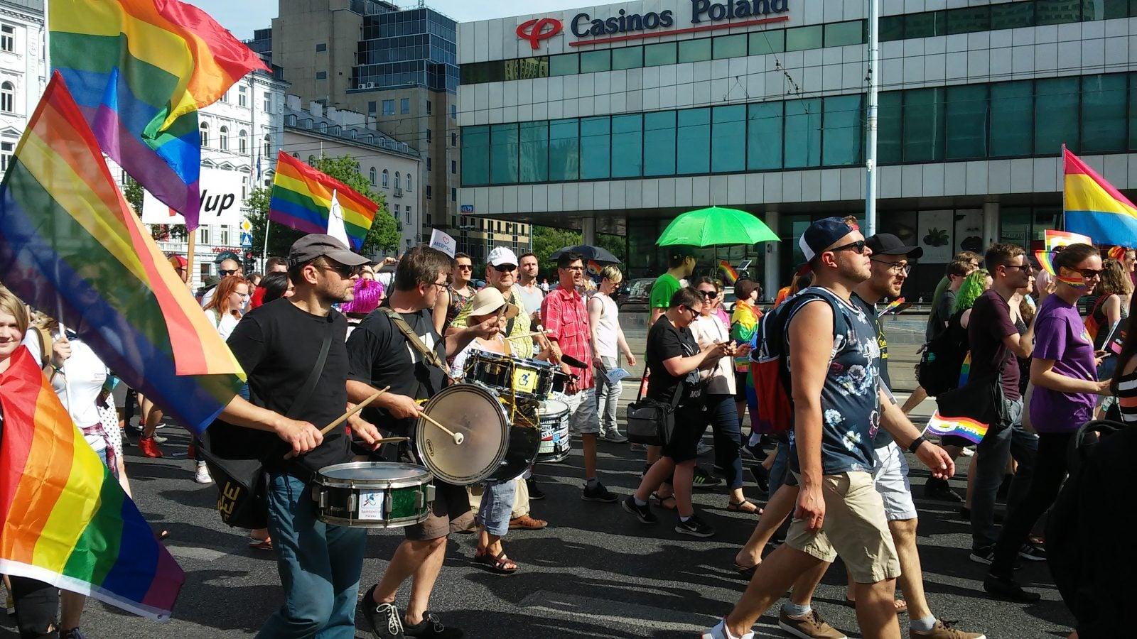 Pride Parade in Warsaw, Poland