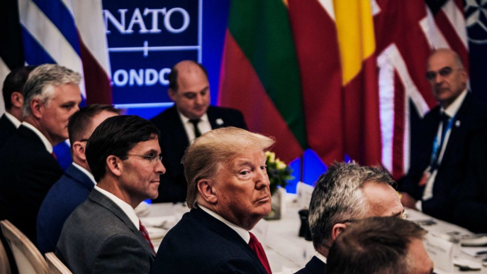 NATO members meeting with Trump and Esper in Washington