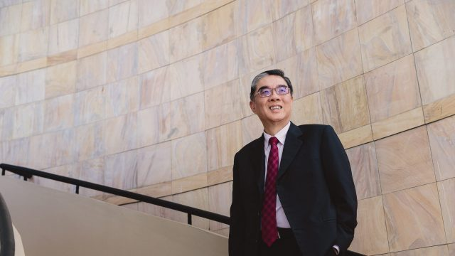 Ambassador Ong smiling