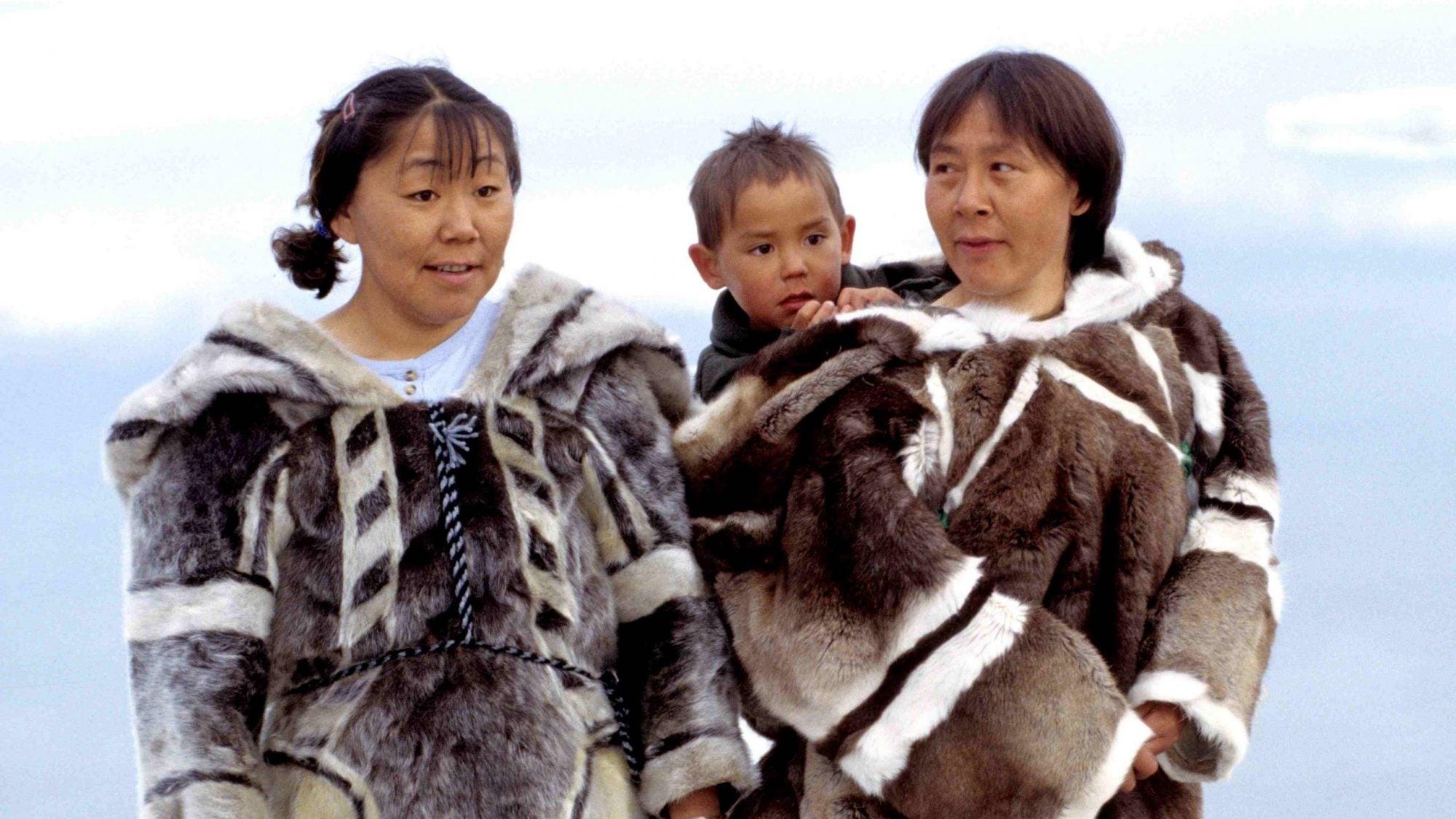 Three Inuit people