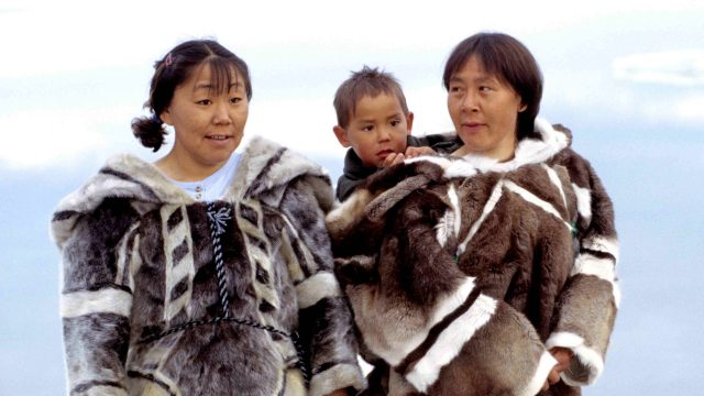 Three Inuit people