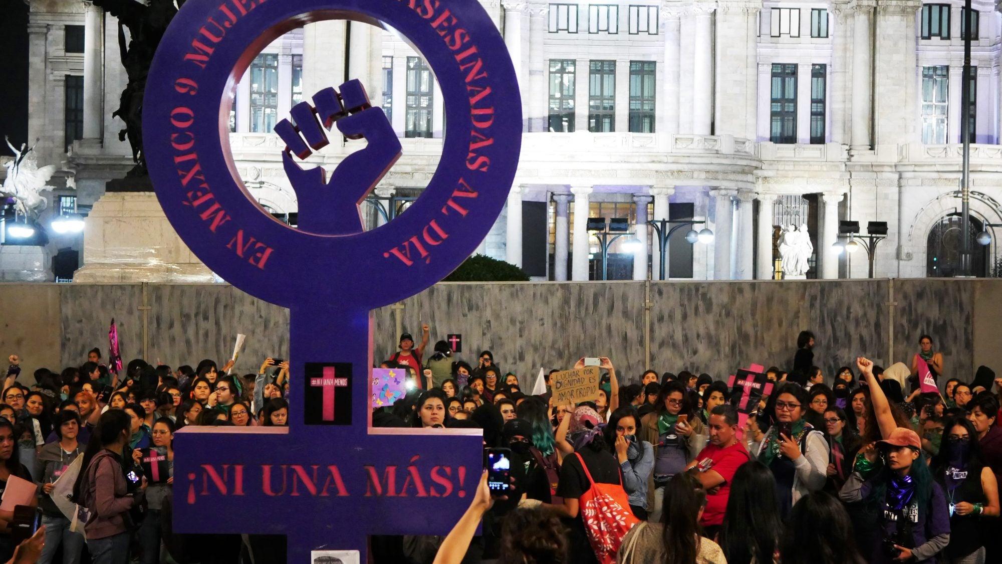 Feminist protest in Mexico