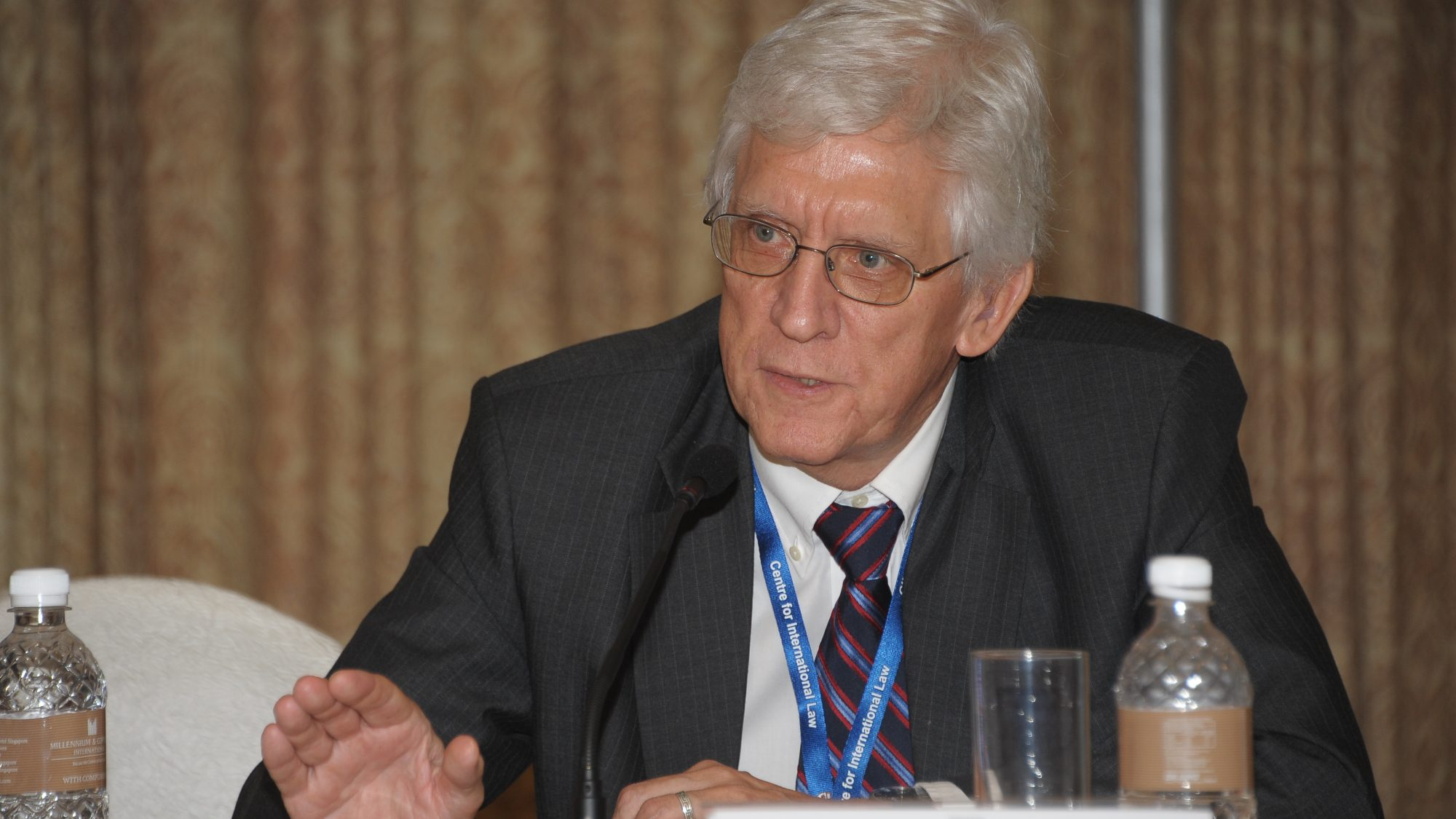Robert Beckman participating in a conference