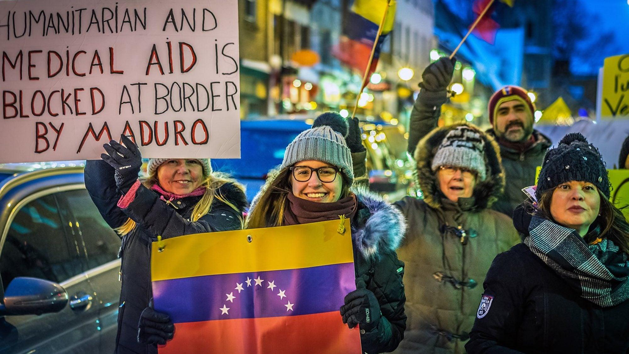 Venezuelan Protestors in Quebec