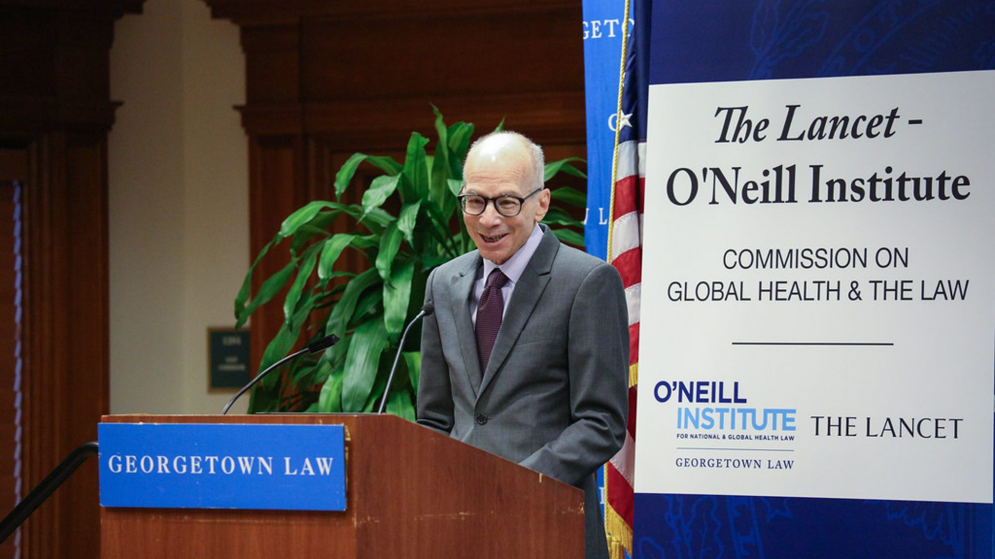 Professor Gostin Speaking at a Georgetown Law Event