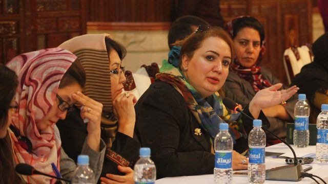 women participating in UN Assistance Mission in Afghanistan talks