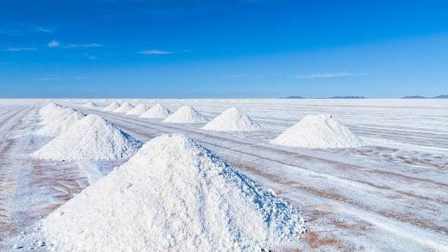 The Uyuni Salt Flat in Bolivia