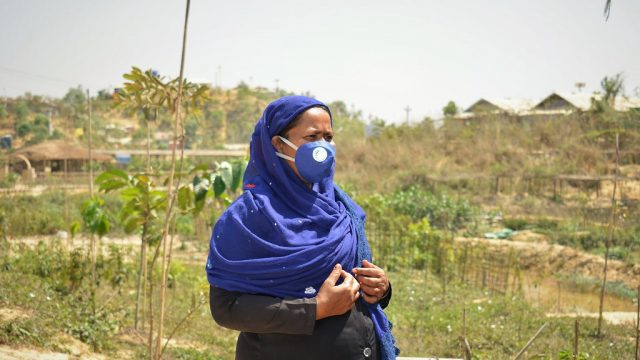 Mobina Khatun works with UN Women to mobilize communities and raise awareness on COVID-19
