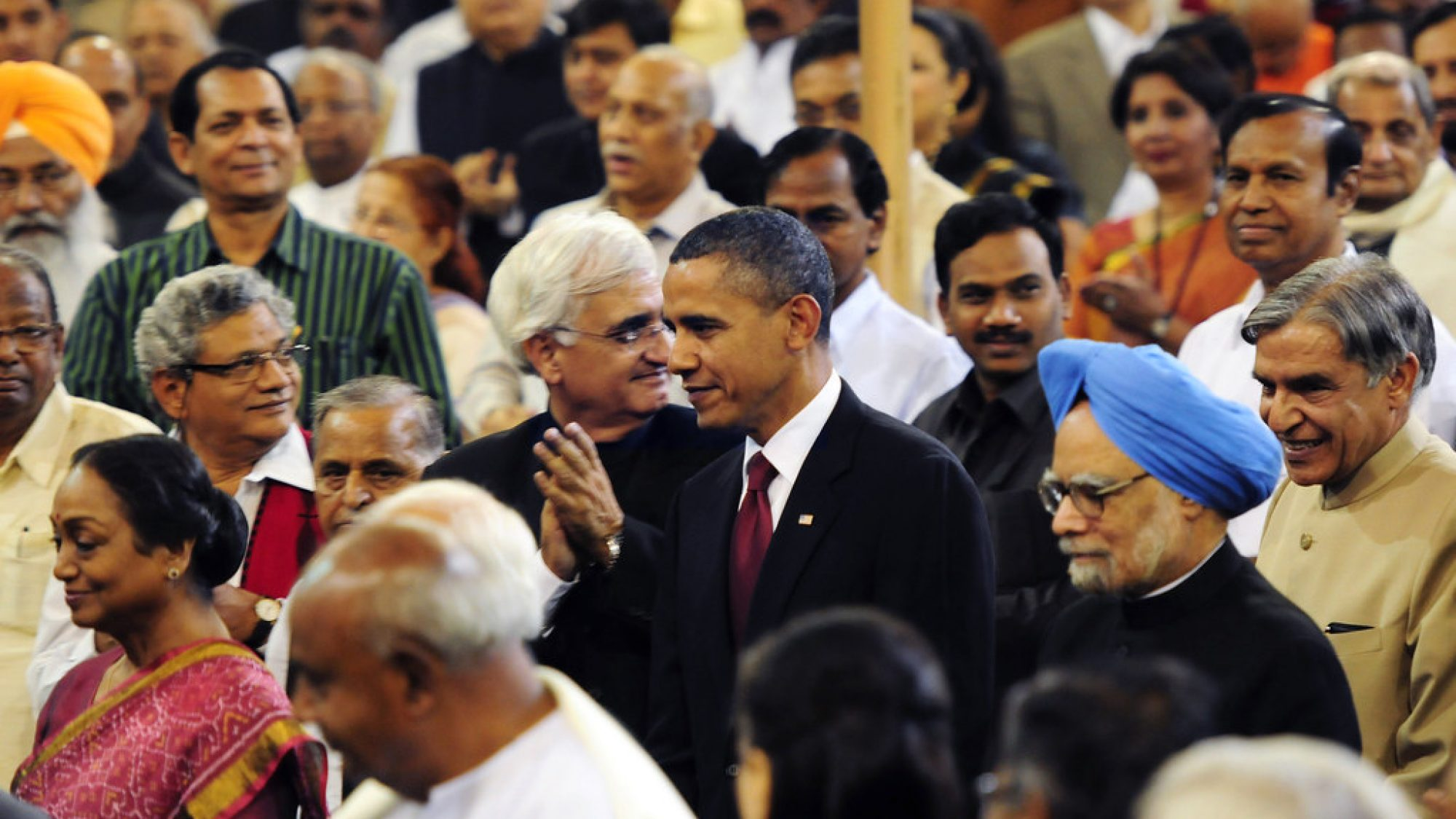 President Obama visits the Indian Parliament