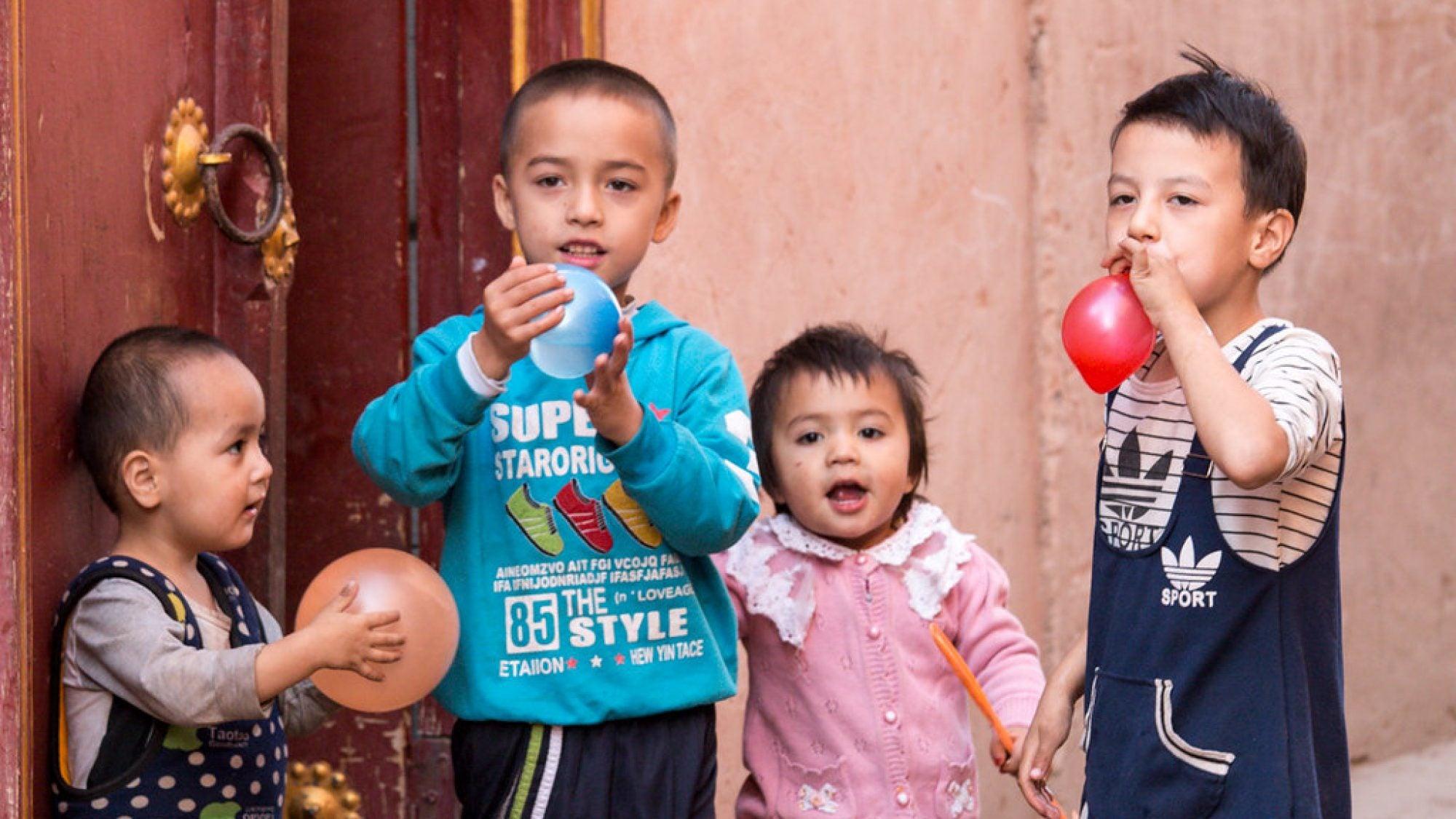Uyghur children in Kashgar